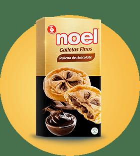 Galletas finas rellenas de chocolate