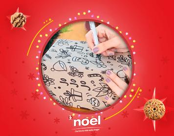 Haz tu propio papel de regalo para esta navidad